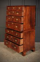 Large Queen Anne Burr Walnut Chest on Chest (11 of 15)