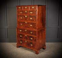 Large Queen Anne Burr Walnut Chest on Chest (10 of 15)
