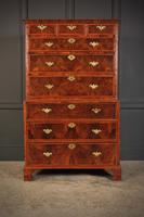 Large Queen Anne Burr Walnut Chest on Chest (5 of 15)