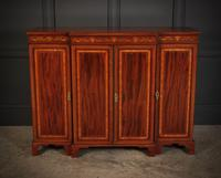 Magnificent Marquetry Inlaid Breakfront Bookcase (3 of 12)
