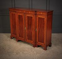 Magnificent Marquetry Inlaid Breakfront Bookcase (7 of 12)