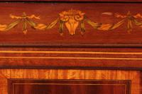Magnificent Marquetry Inlaid Breakfront Bookcase (12 of 12)