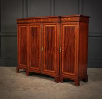 Magnificent Marquetry Inlaid Breakfront Bookcase (8 of 12)