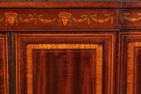 Magnificent Marquetry Inlaid Breakfront Bookcase (5 of 12)