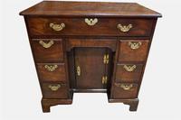 18th Century Cuban Mahogany Kneehole Desk