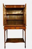 Mahogany & Marquetry Cabinet on Stand c.1900 (2 of 6)