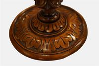 Pair of Mid 19th Century Carved Walnut Candlesticks (5 of 5)