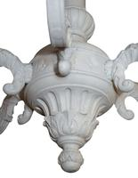 Carved Wooden 6 Light Chandelier in George I Style c.1930 'Rewired' (2 of 3)