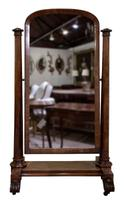 William IV Mahogany Cheval Mirror (4 of 7)