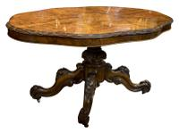 Exceptional Burr Walnut Loo Table c.1860 (2 of 8)
