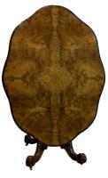 Exceptional Burr Walnut Loo Table c.1860 (3 of 8)