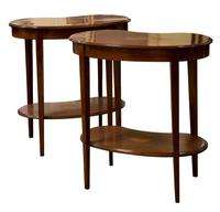 Pair of Edwardian Kidney Shaped Side Tables