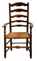 Ash Ladderback Armchair c.1850 (2 of 6)
