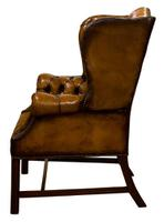 18th Century Style Leather Wing Chair c.1900 (2 of 6)