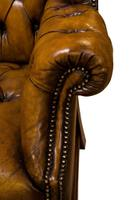 18th Century Style Leather Wing Chair c.1900 (3 of 6)