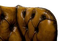 18th Century Style Leather Wing Chair c.1900 (6 of 6)