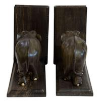 Fine Quality Pair of Edwardian Elephant Bookends (4 of 5)