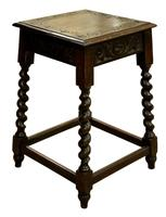 Carved Oak Occasional Table c.1880