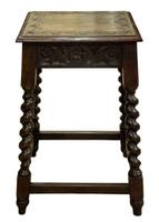 Carved Oak Occasional Table c.1880 (2 of 6)
