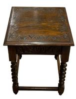Carved Oak Occasional Table c.1880 (3 of 6)