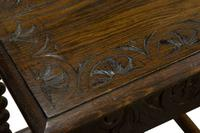 Carved Oak Occasional Table c.1880 (4 of 6)