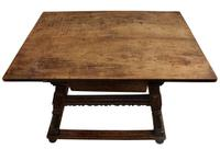 Swiss Cherrywood Marriage Table Dated 1804 (5 of 6)