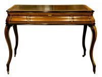 French Amboyna & Ebony Writing Table (3 of 7)