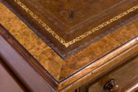 Mahogany Lined, Oak & Burr Walnut Desk (7 of 7)