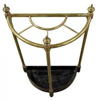 Brass Demi-Lune Umbrella Stand (4 of 5)