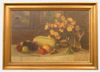 Oil Painting On Canvas of Still Life C.1900 (2 of 11)