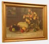 Oil Painting On Canvas of Still Life C.1900 (10 of 11)
