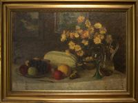Oil Painting On Canvas of Still Life C.1900