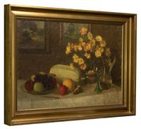 Oil Painting On Canvas of Still Life C.1900 (3 of 11)