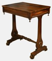 William IV Goncalo Alves Sewing Table c.1830