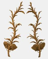 Pair of Carved Limewood George II Style Wall Appliques c.1910