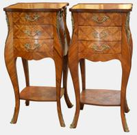 Pair of French Parquetry Bomb Chests c.1920 (2 of 5)