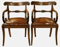 Pair of Regency Period Mahogany Carver Chairs (2 of 5)