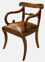 Pair of Regency Period Mahogany Carver Chairs (3 of 5)
