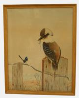 Pair of Australian Watercolours by Tom Howers c.1940 (5 of 6)