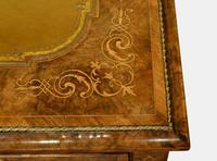 English Burr Walnut Writing Table c.1850 (5 of 7)