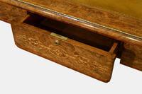 English Burr Walnut Writing Table c.1850 (3 of 7)