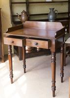 Mahogany 2 Drawer Side Table c.1850 (3 of 5)