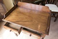 Mahogany 2 Drawer Side Table c.1850 (2 of 5)