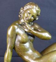 Bronze Art Deco Reclining Nude Sculpture (6 of 7)