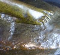 Bronze Art Deco Reclining Nude Sculpture (2 of 7)