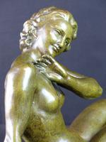 Bronze Art Deco Reclining Nude Sculpture (7 of 7)