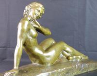 Bronze Art Deco Reclining Nude Sculpture (4 of 7)