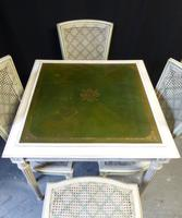 French Games Table & Four Chairs