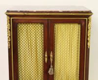 Slender Marble Topped French Mahogany Cabinet c.1890 (12 of 14)