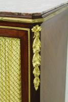 Slender Marble Topped French Mahogany Cabinet c.1890 (11 of 14)